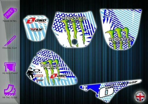 YAMAHA PW80 STICKERS - PW 80 GRAPHICS KIT - PW80 DECALS - PW 80 GRAPHICS KIT - 254912251546